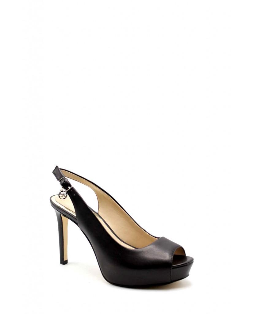 Guess Decollete F.gomma Eddi/sling back/leather Donna Nero Fashion