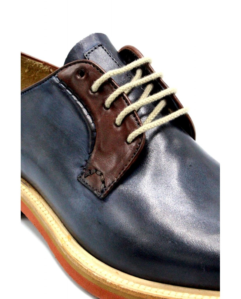 Brecos Classiche F.gomma 40-45 made in italy Uomo Blu-radica Casual