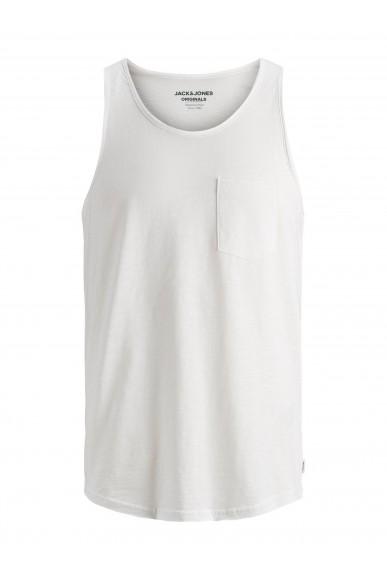 Jackejones Canottiere   Jorwallet tank top sts Uomo Bianco Fashion