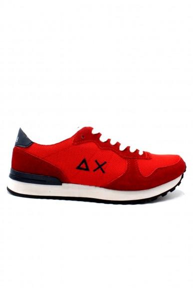 Sun68 Sneakers F.gomma 40/45 Uomo Rosso Sportivo