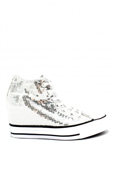 Converse Sneakers F.gomma 35/41 chuck taylors lux Donna Argento-bianco Sportivo