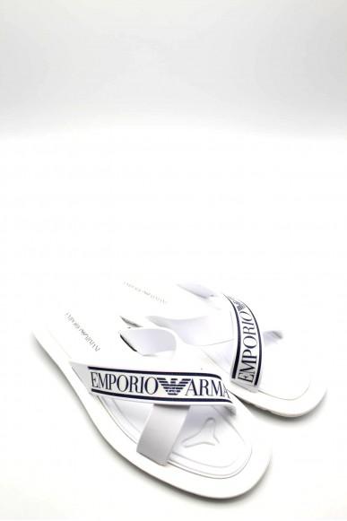 Emporio armani Sandali   Uomo Bianco-blu Fashion