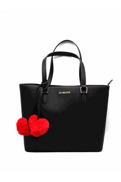 Moschino Borse   Borsa pin grain shopper Donna Nero Fashion