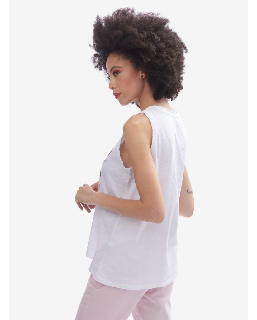 Blauer Canottiere   T-shirt canotta Donna Bianco Fashion