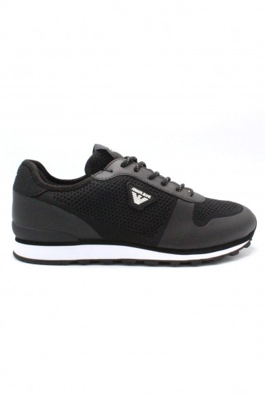 Armani jeans Sneakers F.gomma 40-45 Uomo Nero Casual