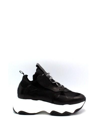 Nicole Sneakers F.gomma 36/40 made in italy 705 Donna Nero Fashion