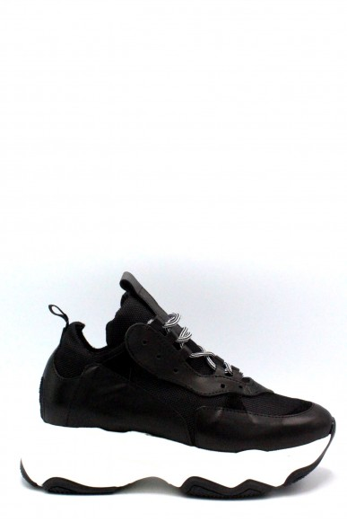 Nicole Sneakers F.gomma 36/40 made in italy 705 Donna Nero Fashion