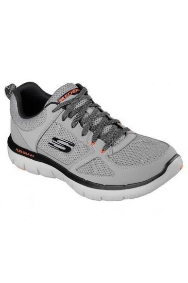 Skechers Sneakers F.gomma 40/46 Uomo Grigio Sportivo