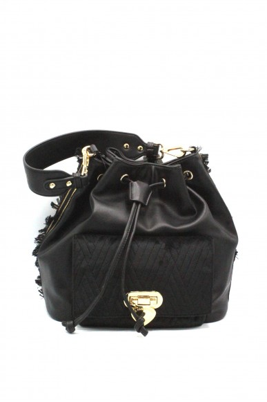 Le pandorine Borse - Velvet bucket now Donna Black Fashion