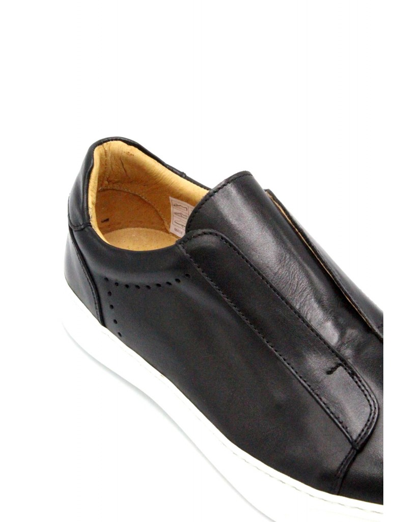Exton Slip-on F.gomma 39/46 made in italy 510 Uomo Nero Fashion
