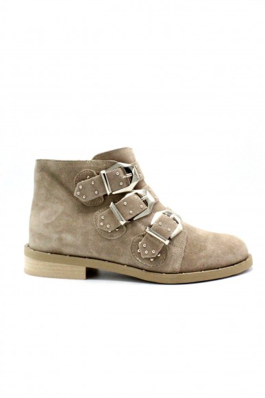 Nicole Tronchetti F.gomma 36/40 ankle boot made in italy Donna Taupe Fashion