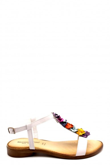 Mercante dei fiori Sandali F.gomma 35/41 made in italy Donna Bianco Fashion