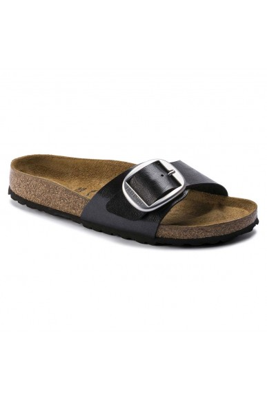Birkenstock Sandali F.gomma Madrid big buckle licorice. birko f Donna Nero Casual