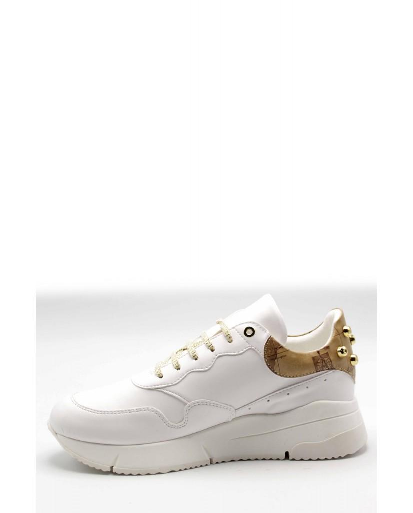 1^classe  Sneakers F.gomma Zp946 Donna Bianco Fashion