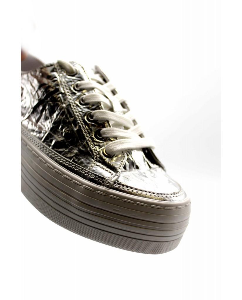 purchase cheap 615f6 3ca05 Calvin klein Sneakers F.gomma Zolah metallic Donna Argento ...