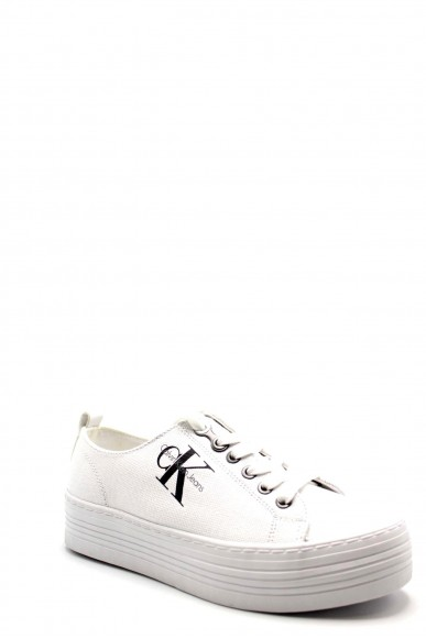 Calvin klein Sneakers F.gomma Zolah canvas Donna Bianco Fashion