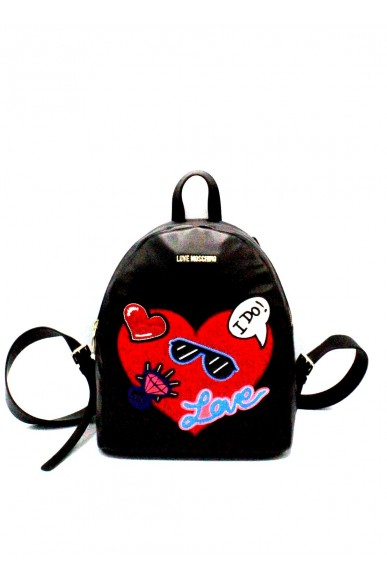 Moschino Backpacks - Zainetto love 2018 jc4110pp15 Donna Nero Fashion