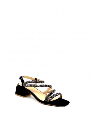 Alma en pena Sandali Donna Nero Fashion