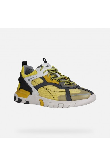 Geox Calzature geox   U grecale a - mesh+suede Uomo Lt yellow/dk yellow