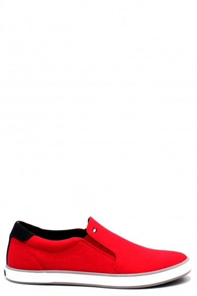 Tommy hilfiger Slip-on F.gomma 40/45 iconic Uomo Rosso Fashion
