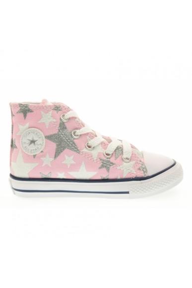 Converse Sneakers F.gomma 21/26 Bambino Rosa-bianco Sportivo