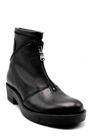 Euroshoes Stivaletti F.gomma 36-41 Donna Nero Fashion