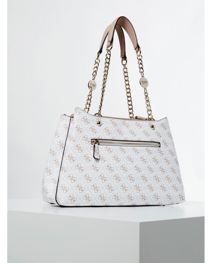 Guess Borse   Lorenna girlfriend satchel Donna Bianco Fashion