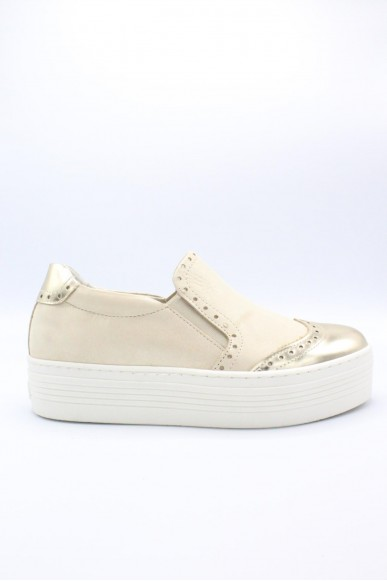 Mally Slip-on F.gomma 36/40 Donna Platino Fashion