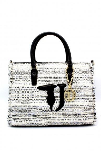 Trussardi Borse Shopping bag media Donna Nero Fashion