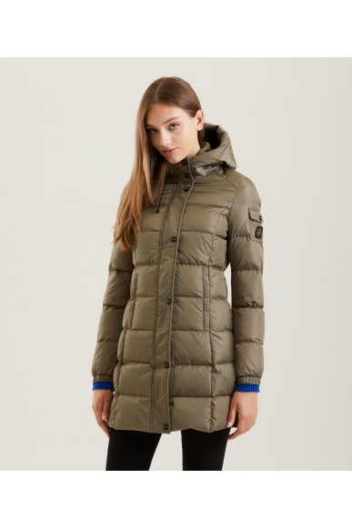 Refrigiwear Giacchetti   Lady long hunter jacket Donna Marrone Fashion