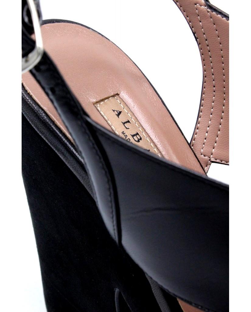 Albano Sandali F.cuoio 35/41 Donna Nero Fashion
