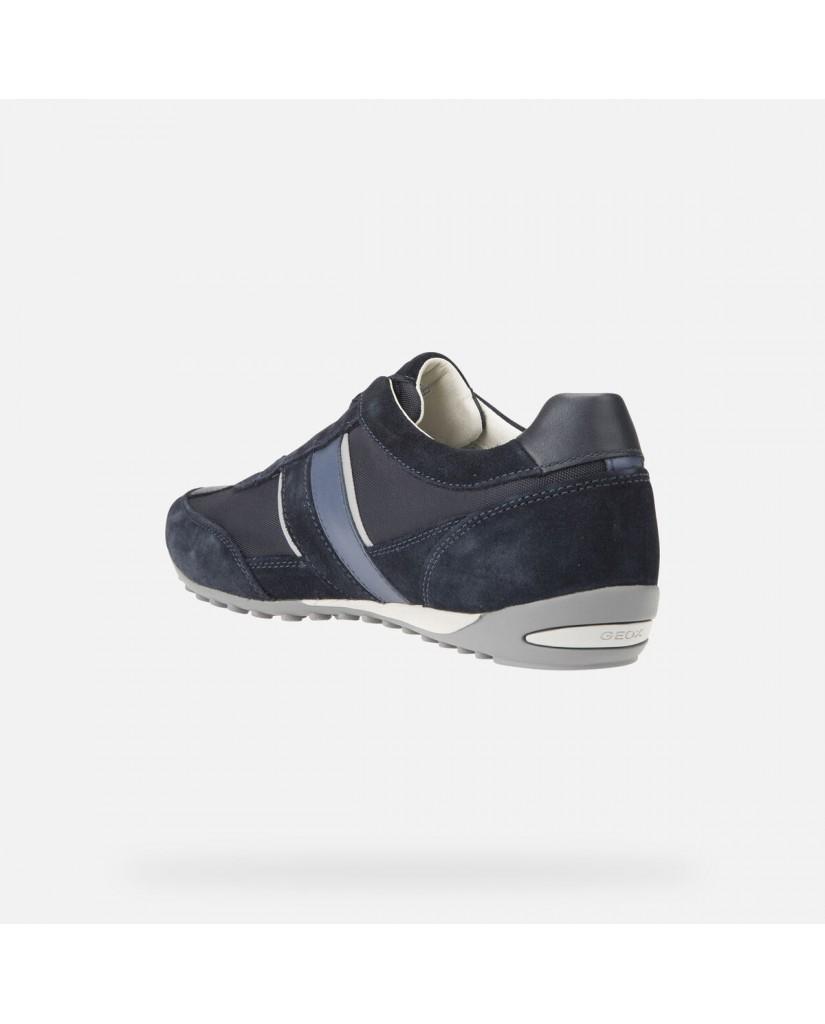 Geox Calzature geox   U wells a - suede+textile Uomo Blu