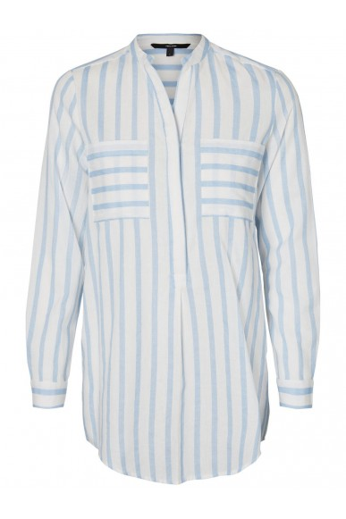 Vero moda Camicie Donna Bianco-celeste Casual