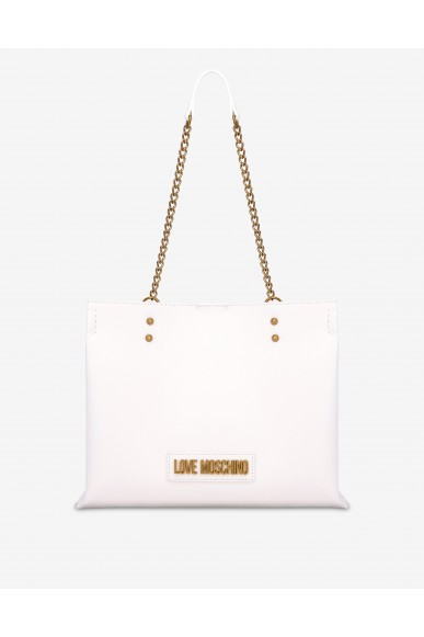 Moschino Borse   Shopper con logo lettering Donna Bianco Fashion