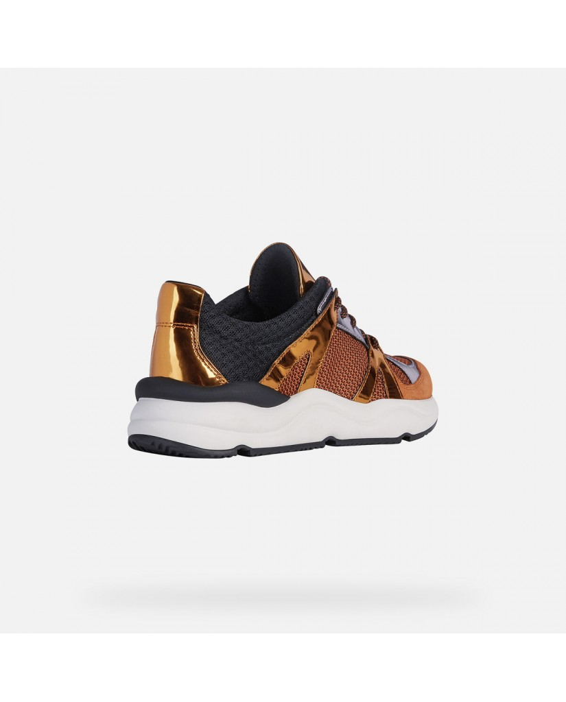 Geox Sneakers   D topazio a - mesh+metal.syn Donna Orange/dk orange