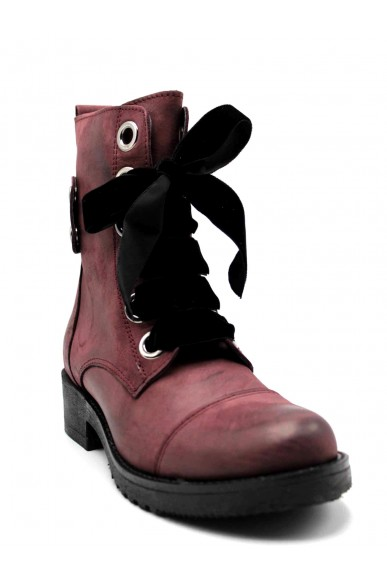 Euroshoes Stivaletti F.gomma 36-41 Donna Bordo Fashion