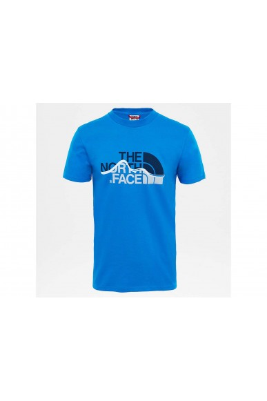 The north face T-shirt   Mount line tee Uomo Blu Streetwear
