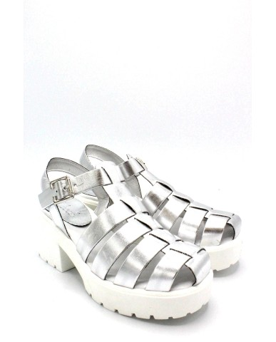 Nicole Sandali F.gomma 36/40 made in italy Donna Argento Fashion