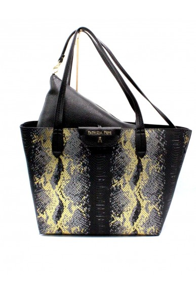 Patrizia pepe Borse - Reversibile Donna Black-gold Fashion