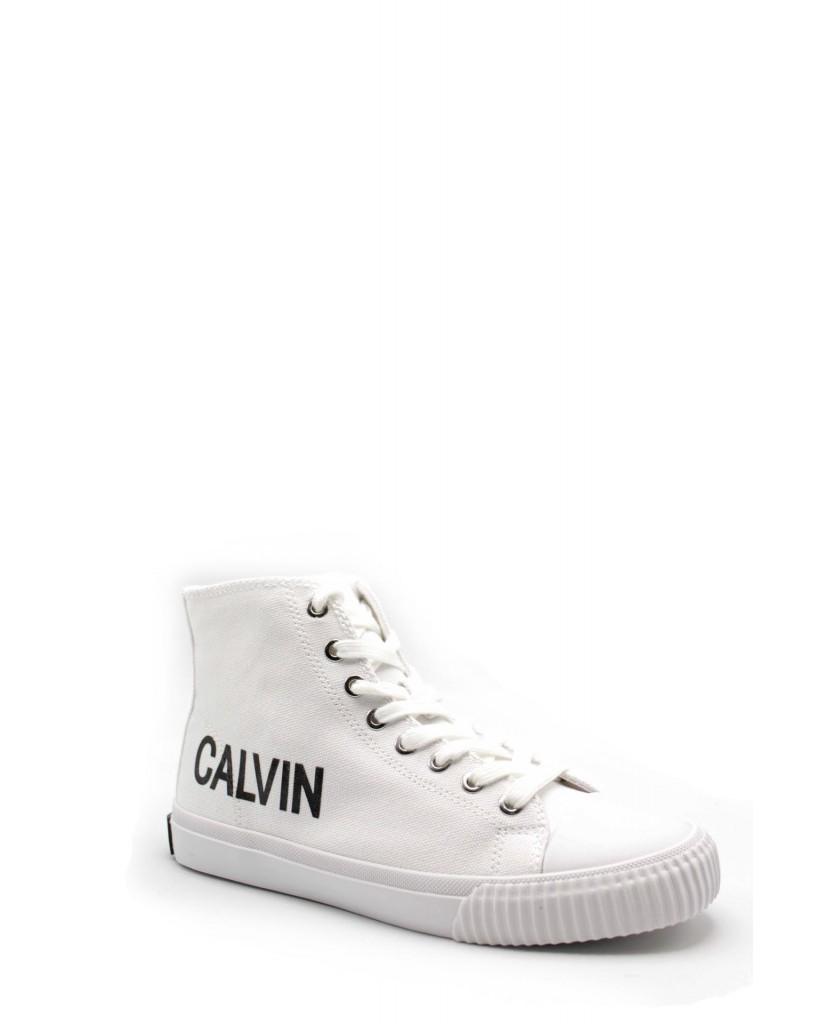 newest 6ffb2 507f8 Calvin klein Sneakers F.gomma Iole canvas Donna Bianco Fashion