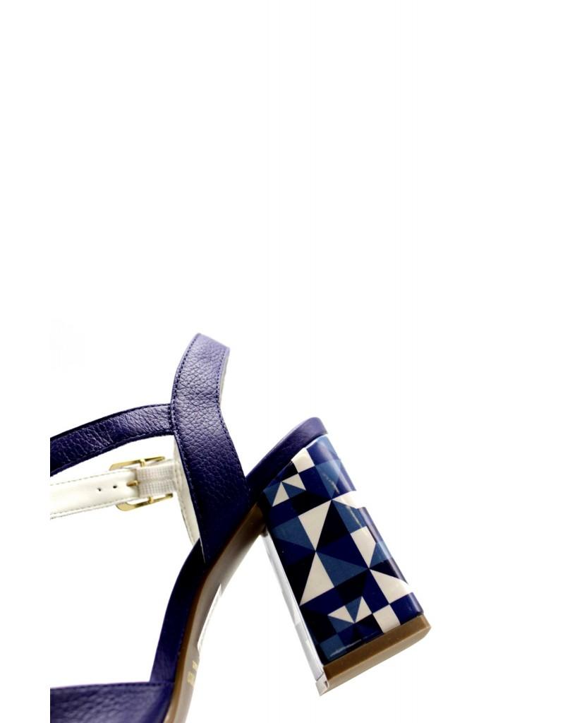 Capelli rossi Sandali F.gomma 7657-407-498 Donna Azzurro Fashion