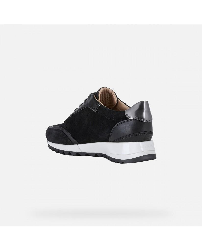 Geox Sneakers   D tabelya a - suede+metal.synt Donna Black/gun