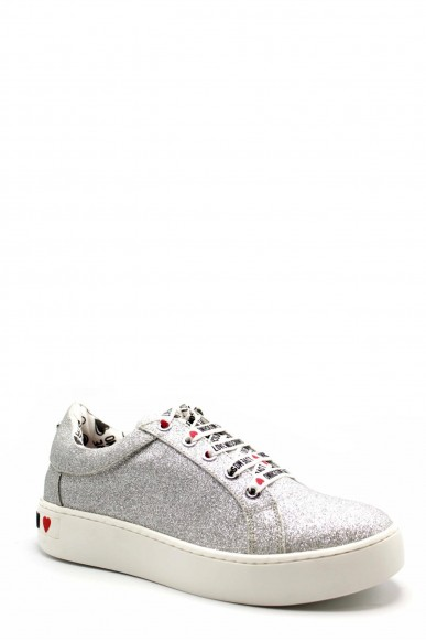 Moschino Sneakers F.gomma Ii0 Donna Argento Fashion