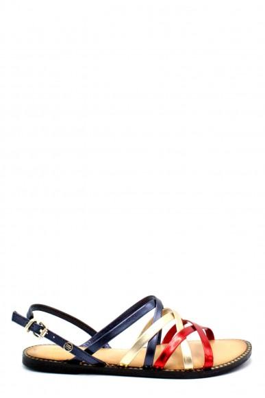 Tommy hilfiger Sandali F.gomma 36/41 metallic strappy flat sandal Donna Fashion