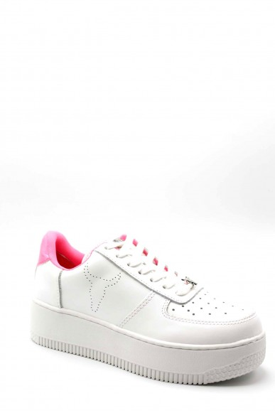 Windsor smith Sneakers F.gomma 36-41 rich Donna Bianco/rosa Fashion