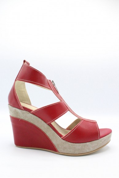 Euroshoes Sandali F.gomma Made in italy Donna Rosso Fashion