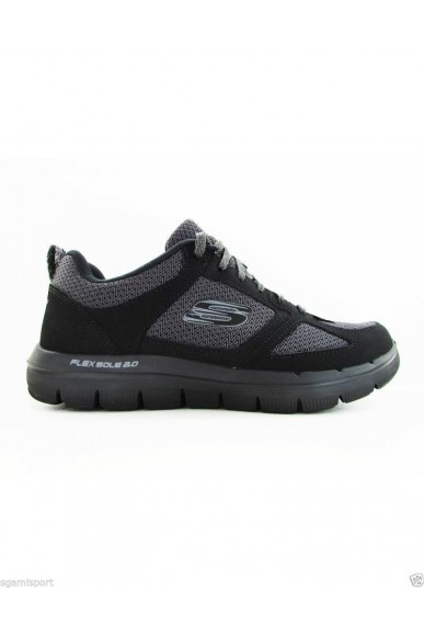 Skechers Sneakers F.gomma 40/46 Uomo Nero Sportivo