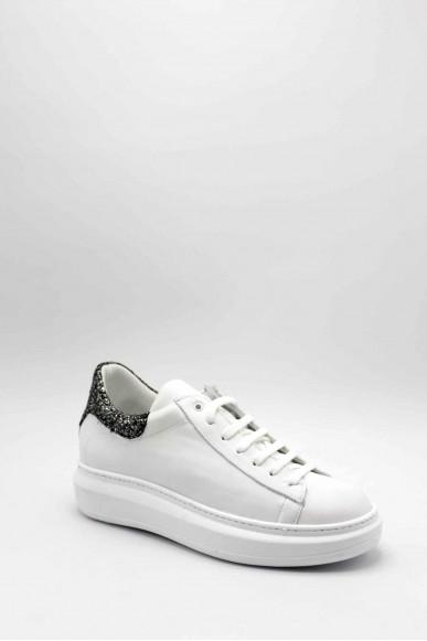Nicole Sneakers F.gomma 2547 Donna Bianco Fashion