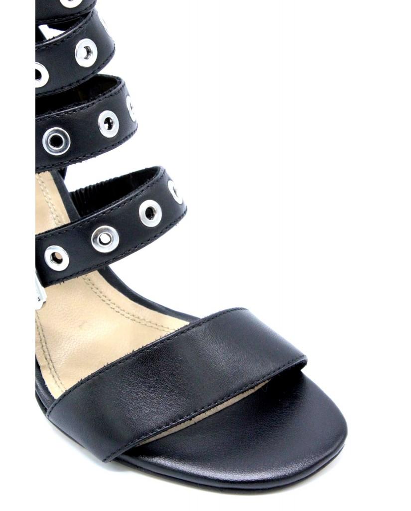 B-private Sandali F.gomma 35/41 p1603n made in italy Donna Nero Fashion