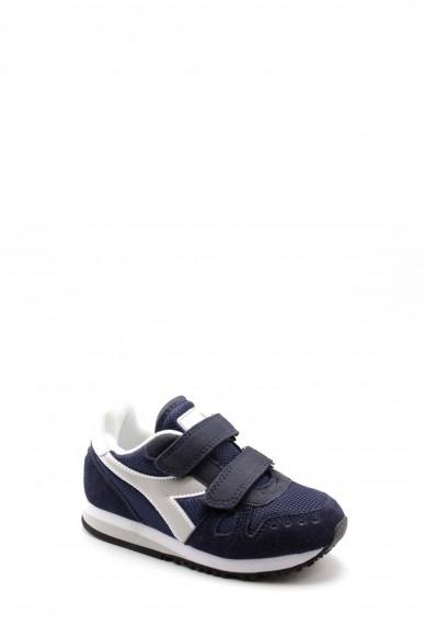 Diadora Sneakers F.gomma Simple run ps Bambino Blu Sportivo